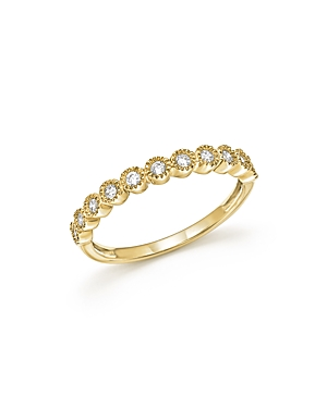 Diamond Milgrain Bezel Stacking Band in 14K Yellow Gold, .25 ct. t.w. - 100% Exclusive