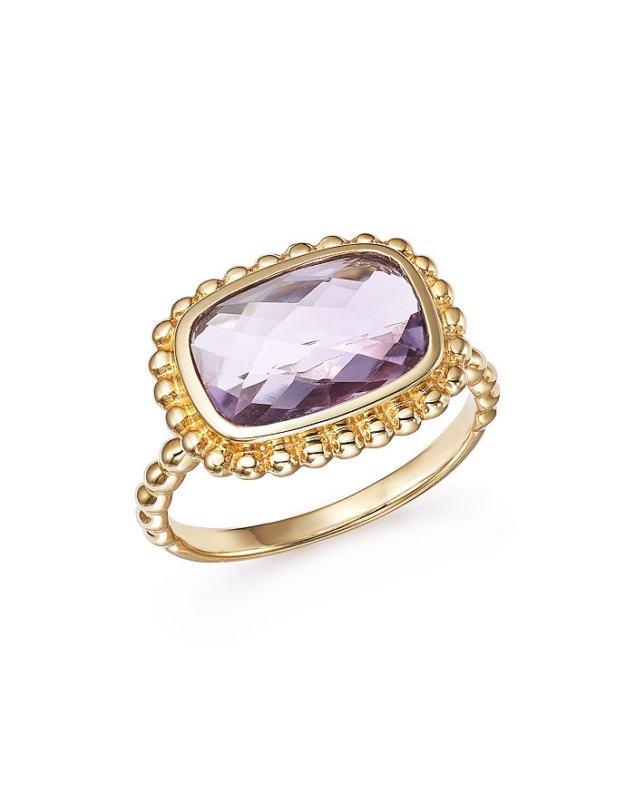 Bloomingdale's - Rose Amethyst Beaded Ring in 14K Yellow Gold - 100% Exclusive