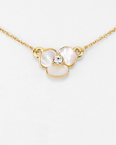 kate spade new york - Mini Floral Pendant Necklace, 14""