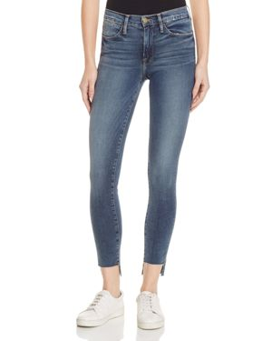 Frame Le High Skinny Raw Stagger Jeans in Woodhaven