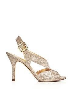 MICHAEL Michael Kors - Women's Becky Glitter Crisscross Slingback Sandals