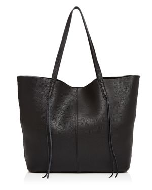 Rebecca Minkoff Unlined Whipstitch Medium Pebbled Leather Tote 2445661