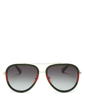 d1f5eba0f Gucci - Women's Brow Bar Aviator Aviator Sunglasses, ...