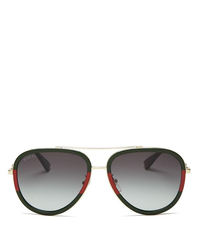 edc9b7101 Gucci Women's Brow Bar Aviator Sunglasses, 57mm | Bloomingdale's