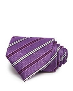 The Men's Store at Bloomingdale's Medium Track Stripe Wide Tie - 100% Exclusive_0