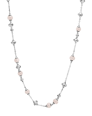 John Hardy Sterling Silver Bamboo Sautoir Necklace with White Moonstone, 36