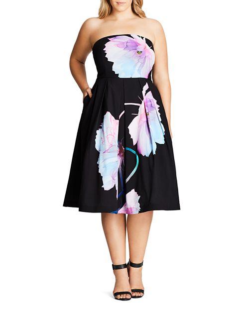 City Chic Plus - Pretty Bloom Dress
