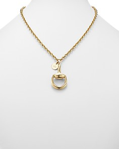 Gucci - 18K Yellow Gold Horsebit Necklace, 16.9""