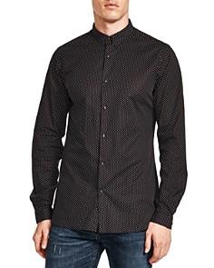 The Kooples - Pin Dot Skull Snap Slim Fit Shirt