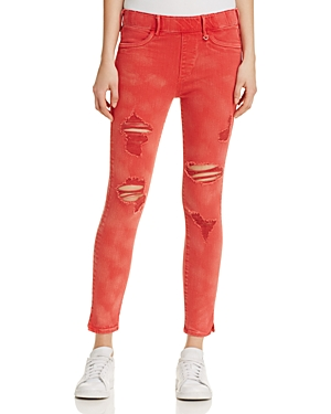 True Religion Runway Legging Crop Jeans in Ruby Red