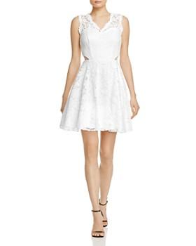 AQUA - Lace Illusion Detail Dress- 100% Exclusive