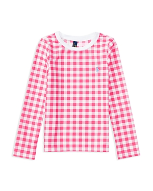 Ralph Lauren Childrenswear Girls' Upf 50+ Gingham Rash Guard - Sizes 2-6X