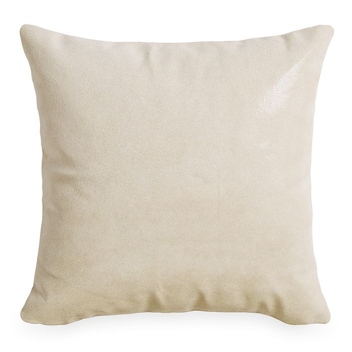 """Donna Karan - Tidal Lacquer Printed Leather Decorative Pillow, 16"""" x 16"""""""