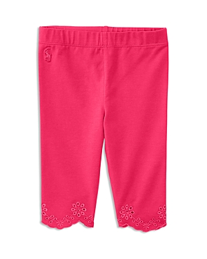 Ralph Lauren Childrenswear Girls' Embroidered & Scalloped Leggings - Baby