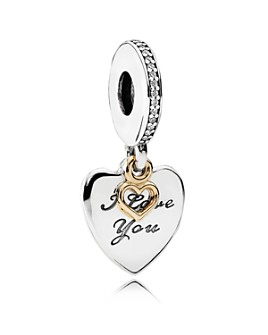 Pandora - Sterling Silver, 14K Gold & Cubic Zirconia Love You Forever Charm