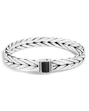 John Hardy Sterling Silver Modern Chain Bracelet with Black Onyx