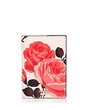 kate spade new york Cameron Street Roses Saffiano Leather Passport Case