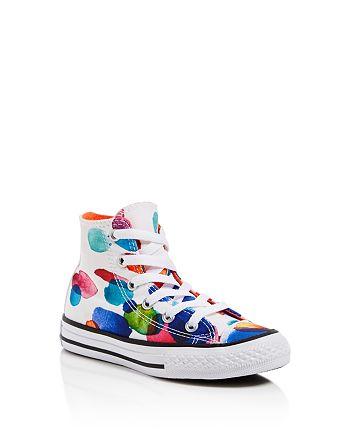 ba0b6b30f Converse - Girls' Chuck Taylor All Star Flower Petal High Tops - Toddler,  Little
