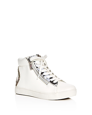 Steve Madden Girls' Glitter Peace Sign High Top Sneakers - Little Kid, Big Kid