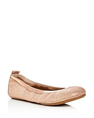 Yosi Samra Samara Glitter Foldable Ballet Flats