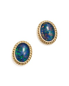 Bloomingdale's - Bezel Set Stud Earrings in 14K Yellow Gold