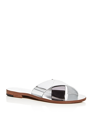 Botkier Ally Metallic Crisscross Slide Sandals