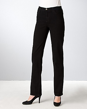 Nydj Petites Slim-Leg Jeans in Black