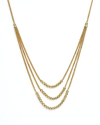 "Bloomingdale's - 14K Yellow Gold Graduated Multi Strand Necklace with Beads, 16"" - 100% Exclusive"