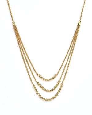 14K Yellow Gold Graduated Multi Strand Necklace with Beads, 16 - 100% Exclusive