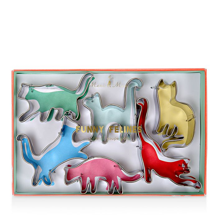 Meri Meri - Funny Felines 6-Piece Cookie Cutter Set