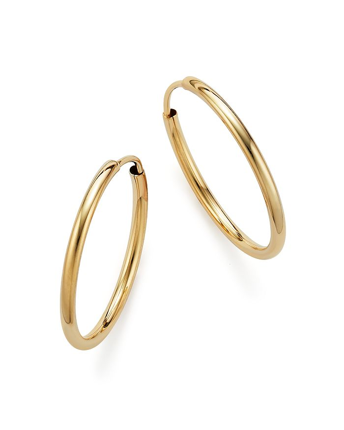 14k Yellow Gold Endless Hoop Earrings 100 Exclusive