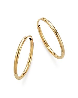 14K Yellow Gold Endless Hoop Earrings - 100% Exclusive
