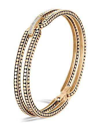 JOHN HARDY - 18K Yellow Gold Dot Diamond Bracelet