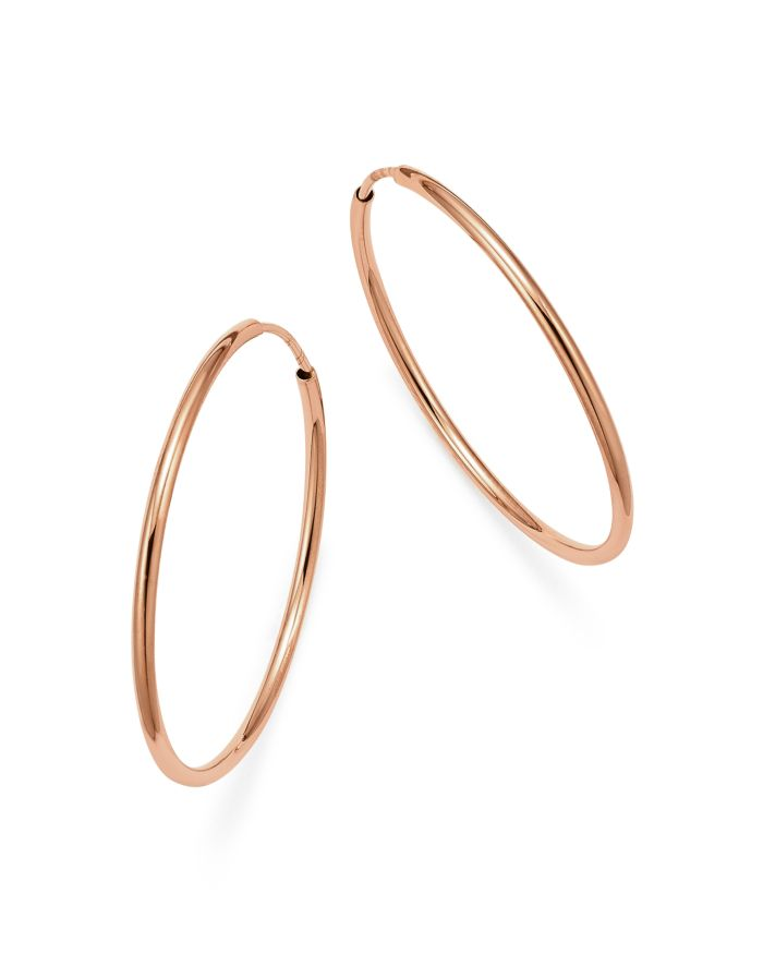 Bloomingdale's 14K Rose Gold Endless Hoop Earrings - 100% Exclusive  | Bloomingdale's