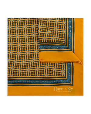 Hilditch & Key Floret Bordered Pocket Square