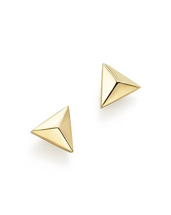 c9fd2e95c Zoë Chicco - 14K Yellow Gold Triangle Pyramid Stud Earrings