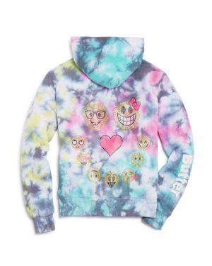 Butter Girls' Tie Dye Emoji Hoodie - Big Kid