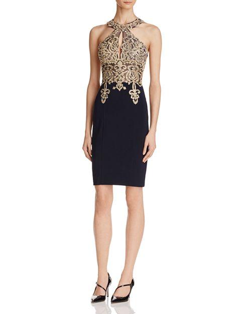 Avery G - Embellished-Bodice Dress