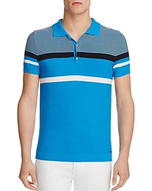 Diesel K-Cortez Striped Regular Fit Polo Sweater