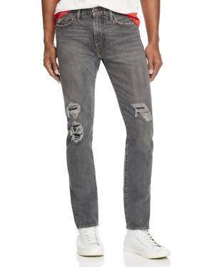 Levi's 505C Slim Straight Fit Jeans in Black