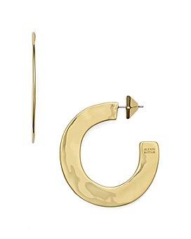 Alexis Bittar - Liquid Metal Sheet Hoop Earrings
