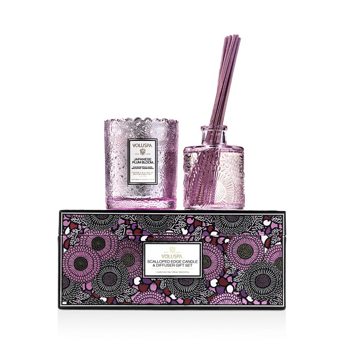 Voluspa - JPB Scalloped-Edge Candle and Diffuser Gift Set