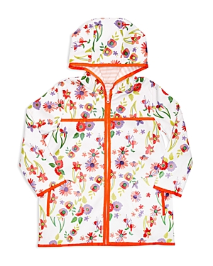 Margherita Kids Girls' Floral Hooded Raincoat - Sizes 2-7