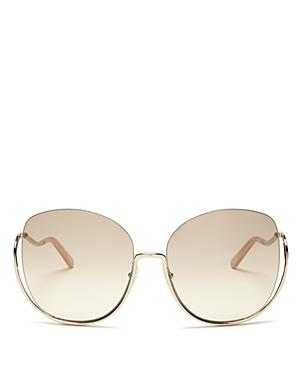 Chloe Women's Milla Oversized Round Sunglasses, 64mm