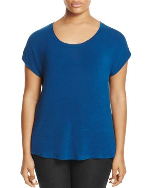 B Collection by Bobeau Curvy Meagan Scoop Neck Tee - 100% Exclusive