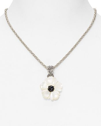 "Stephen Dweck - Black Sapphire Flower Pendant Necklace, 18"" - 100% Exclusive"