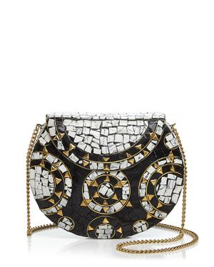 From St Xavier Camilla Metal Clutch