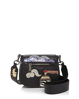 Marc Jacobs Julie Verhoeven Nomad Patched Small Leather Saddle Bag
