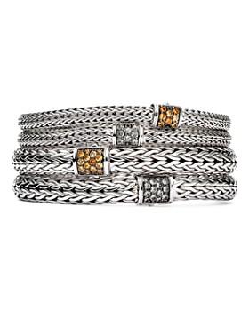 John Hardy - Sterling Silver Classic Chain Mixed Gemstone Bracelets