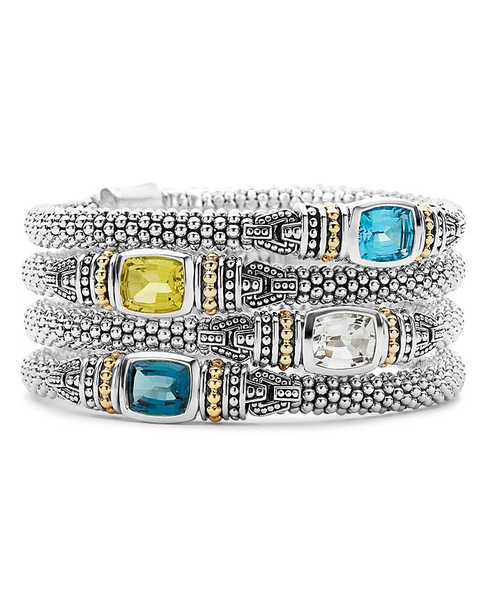 LAGOS - 18K Gold and Sterling Silver Caviar Color Bracelet